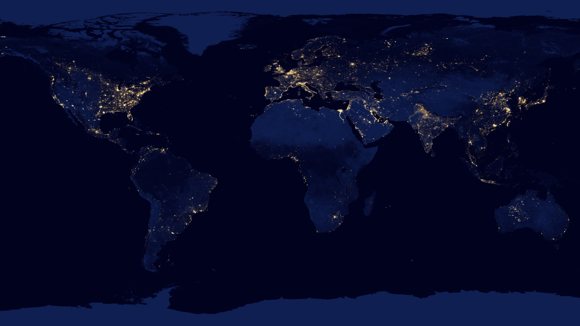 The earth at night NASA Earth Observatory