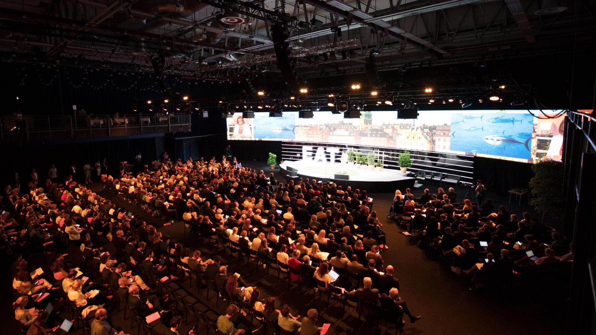 Main auditorium during EAT Stockholm Food Forum 2018