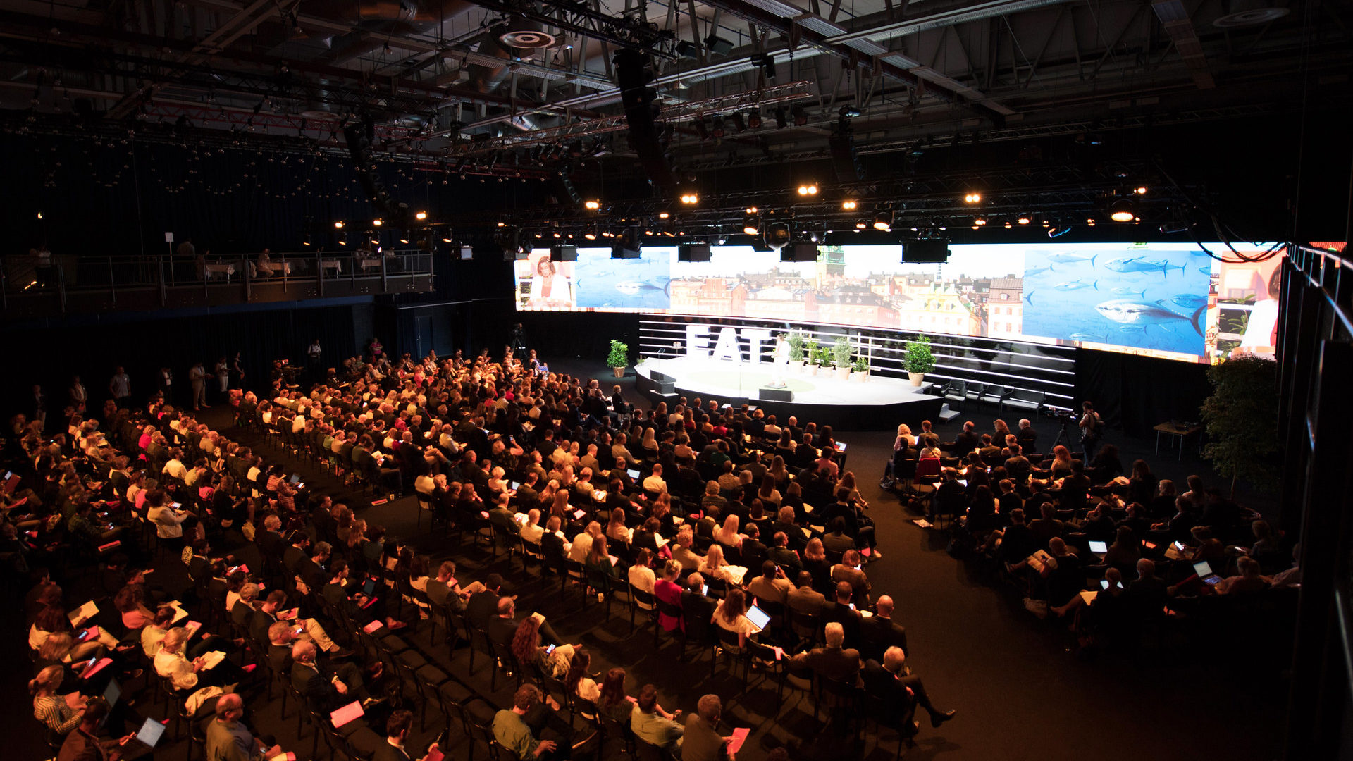 Main auditorium during EAT Stockholm Food Forum 2018