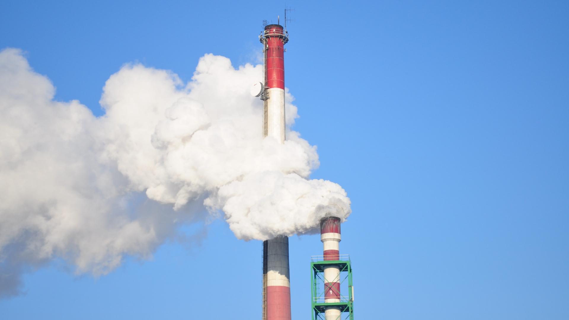 carbono contaminación del aire
