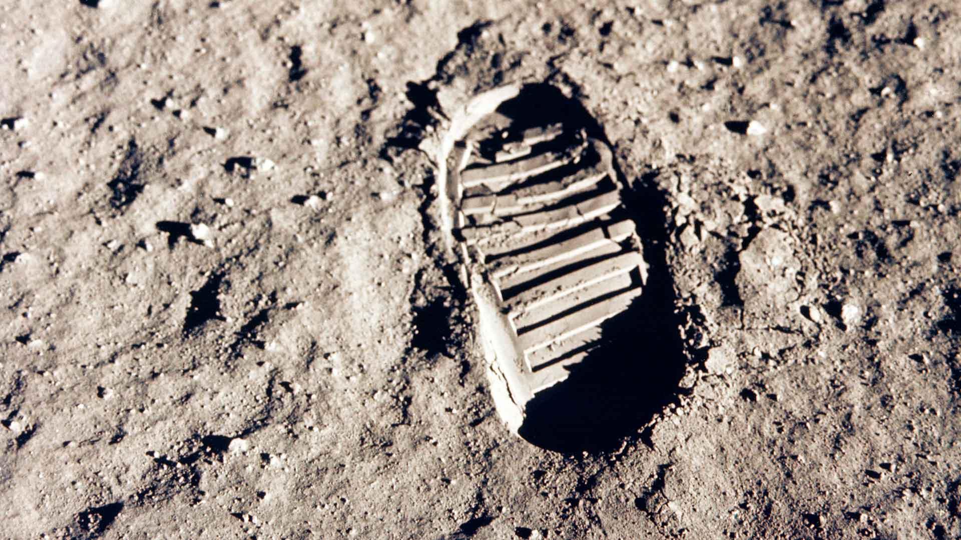 Petjada de l'astronauta Buzz Aldrin sobre la Lluna