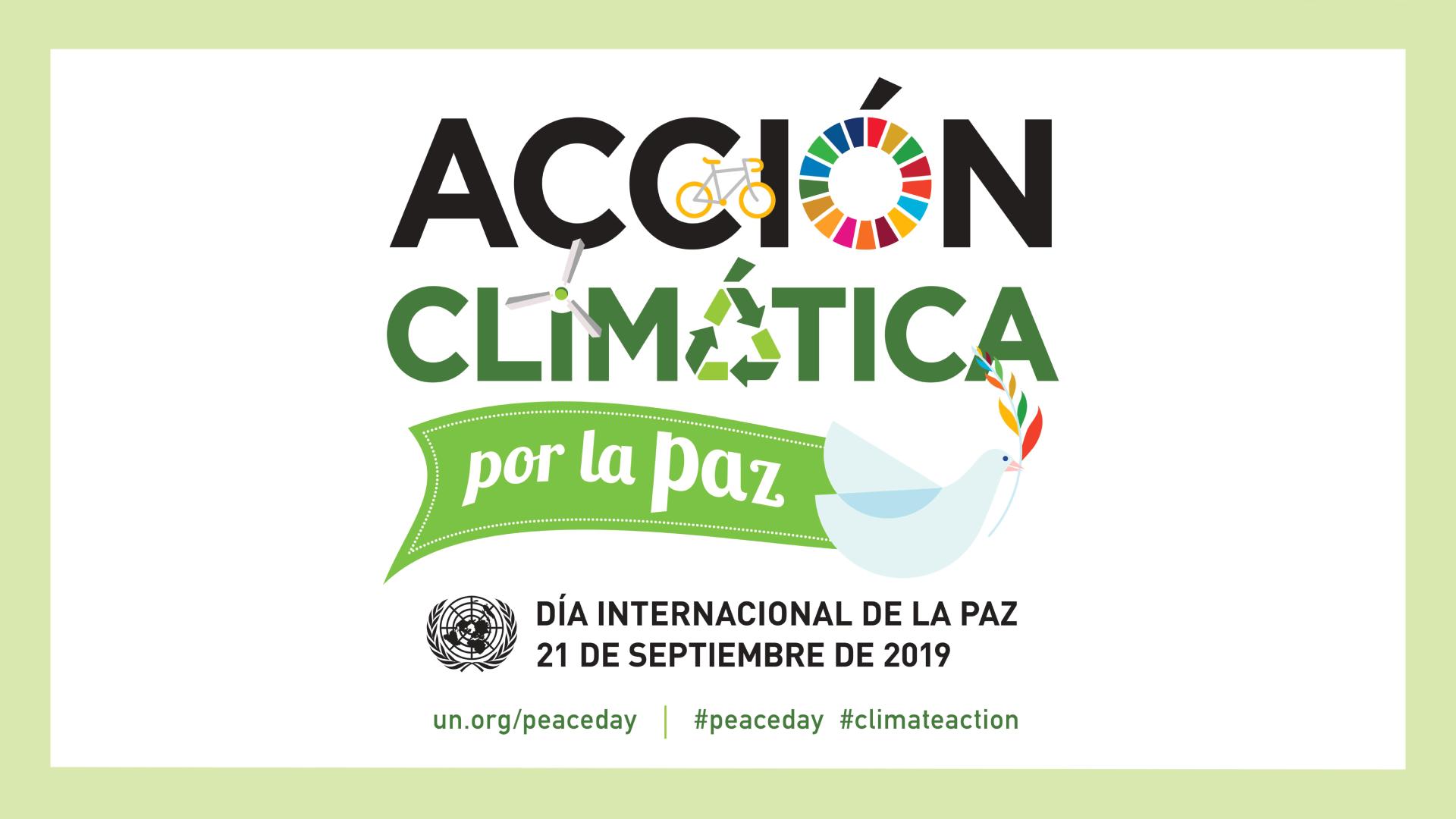 Acción climática por la paz