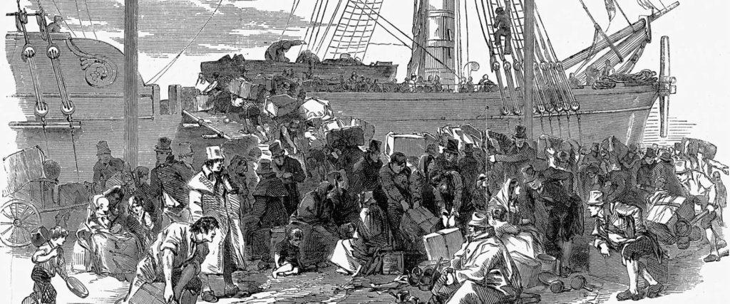 Gran Fam irlandesa migració