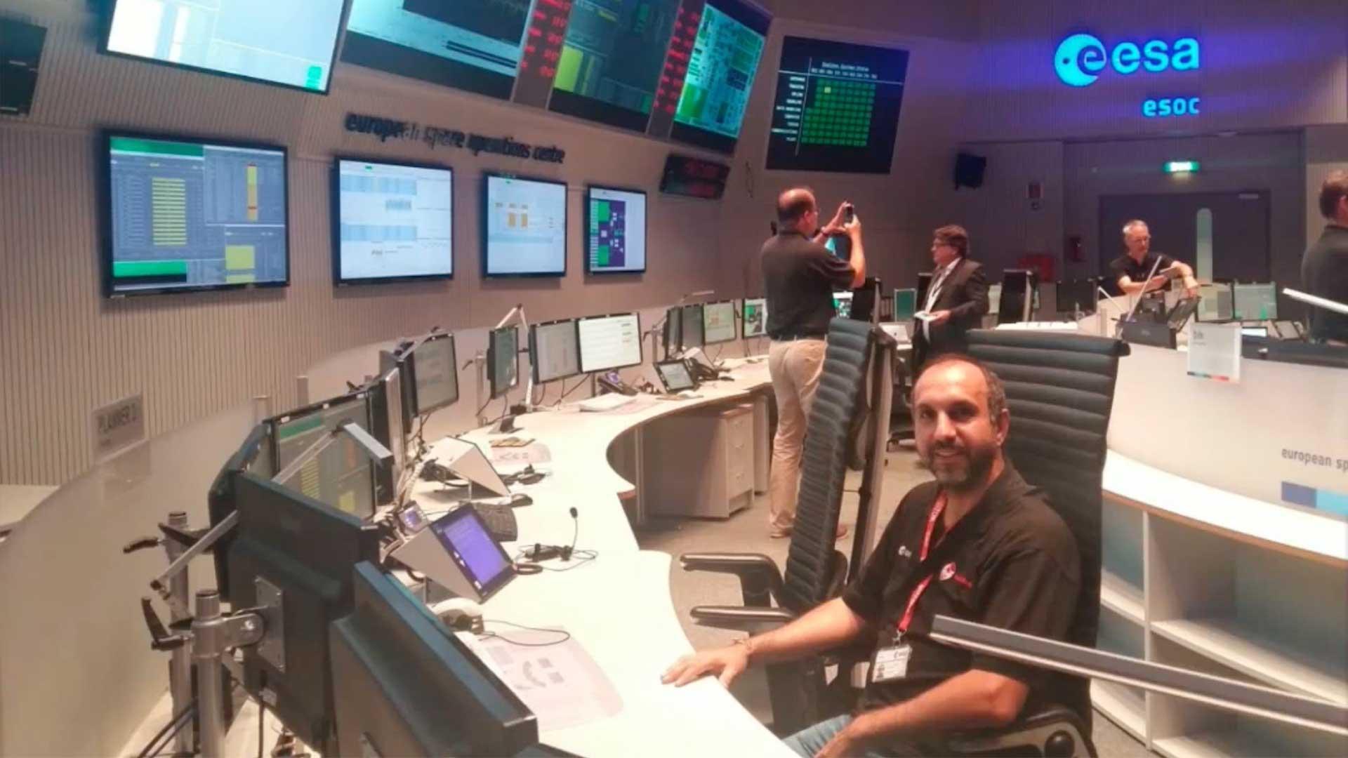 Lluís Gesa durant el projecte LISA Pathfinder