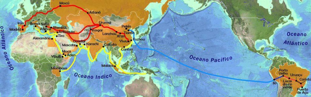 Mapa nova ruta de la seda