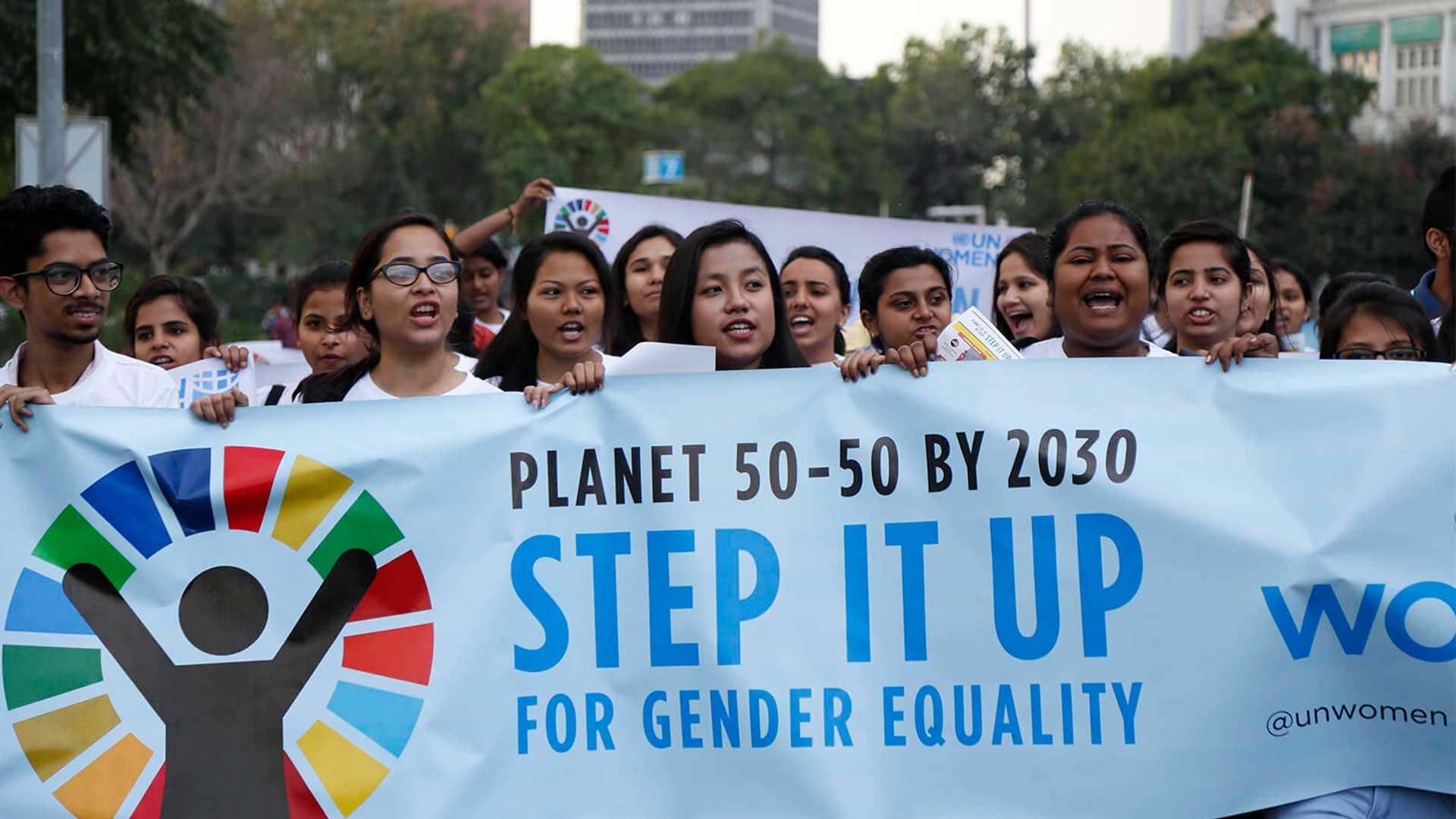 UN Women demonstration