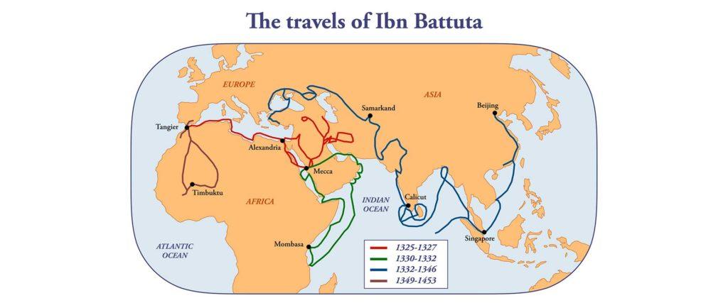 Mapa Ibn Battuta