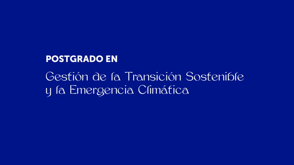 Postgrado Transición Sostenible